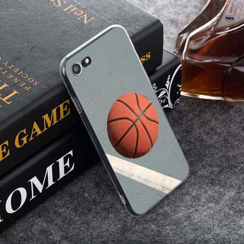 شفافة غطاء سيليكون التمتع كرة السلة ل فون 11 11Pro XS ماكس XR X 8 7 6S 6 زائد 5S جراب هاتف