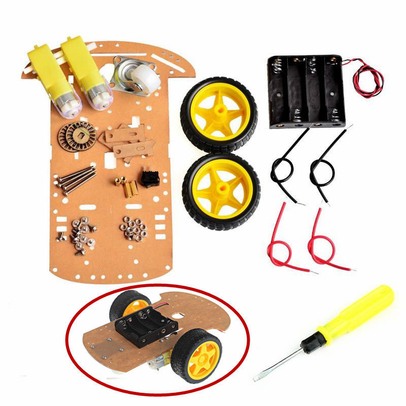 Adeept Smart Motor Robot Car Batteri Box Chassi Kit Speed ​​Encoder för Arduino Freeshipping Diy Diykit