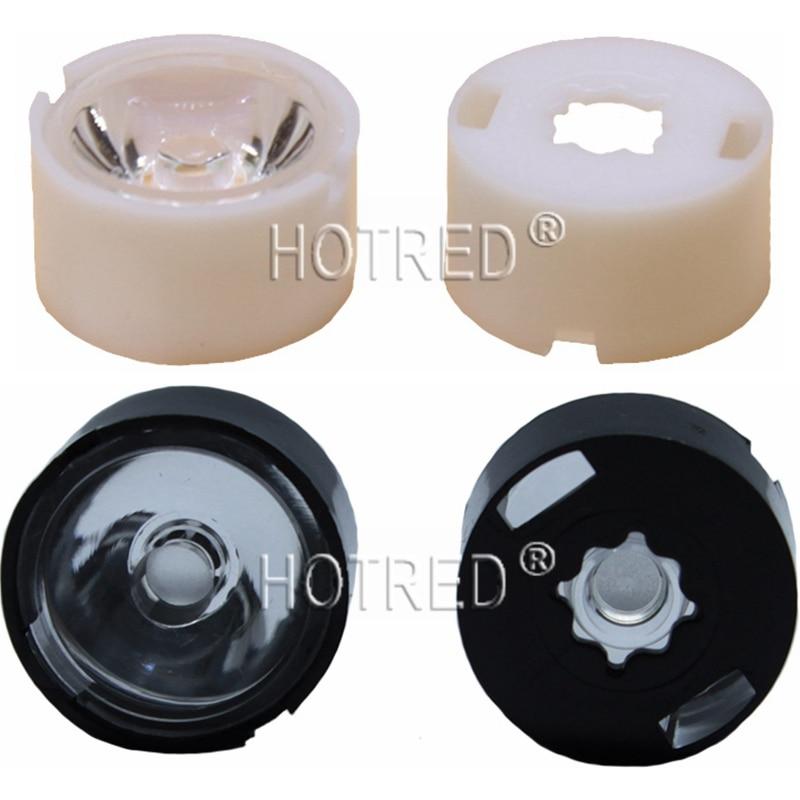 100PCS CREE XP-E XPE /XP-G XPG / XT-E XTE 3535 LED 3030 Lens 13mm white holder 10degree/20degree/30degree/45degree/60degree