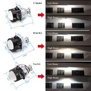 Image 3 - Фотолампа Ronan диагональю 2,5 дюйма со светодиодсветодиодный ангельскими глазами, светящиеся глаза дьявола, красные, синие, RGB для универсальной розетки H1 H4 H7, модификация автомобиля
