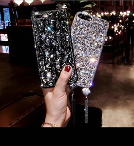 Image 5 - Bling Jewelled Rhinestone Crystal Diamond Soft Back Pendant Phone Case Cover For iPhone 12 11 Pro MAX X 6s 7 8 Plus 5 XR Xs Max