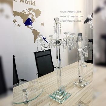 Velas De Cristal | K9 Candelabros De Cristal Con 5 Armas Crystal Candle Holder Para La Boda Centros De Mesa Decoraciones Al Por Mayor Y Al Por Menor
