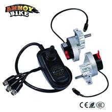 Электрический двигатели для кресла-коляски Джойстик контроллер левый и правый одна пара 24 в 200 Вт низкая скорость высокий крутящий момент кисточки DC шестерни