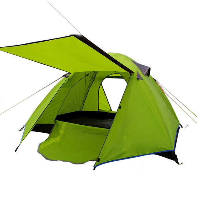 Outdoor Beach Tent 2 Person Double Layer Camping Ultralight Folding 4 Season Travel Tent Garden Children Play Awning Tent