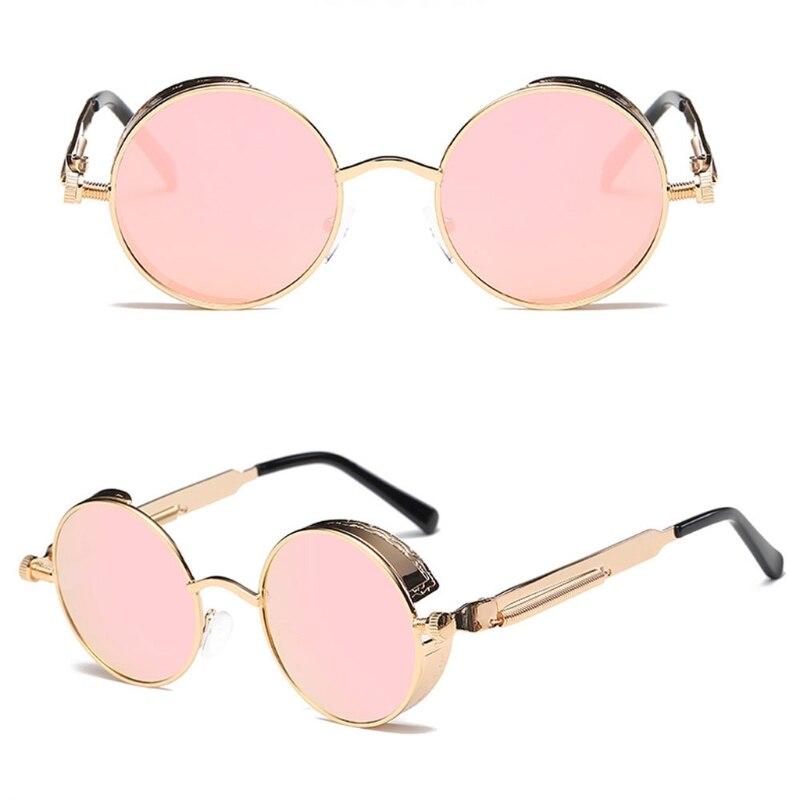 Vintage Antique Color Metal Charm Eyeglass Sunglasses: New Round Metal Sunglasses Steampunk Men Women Fashion