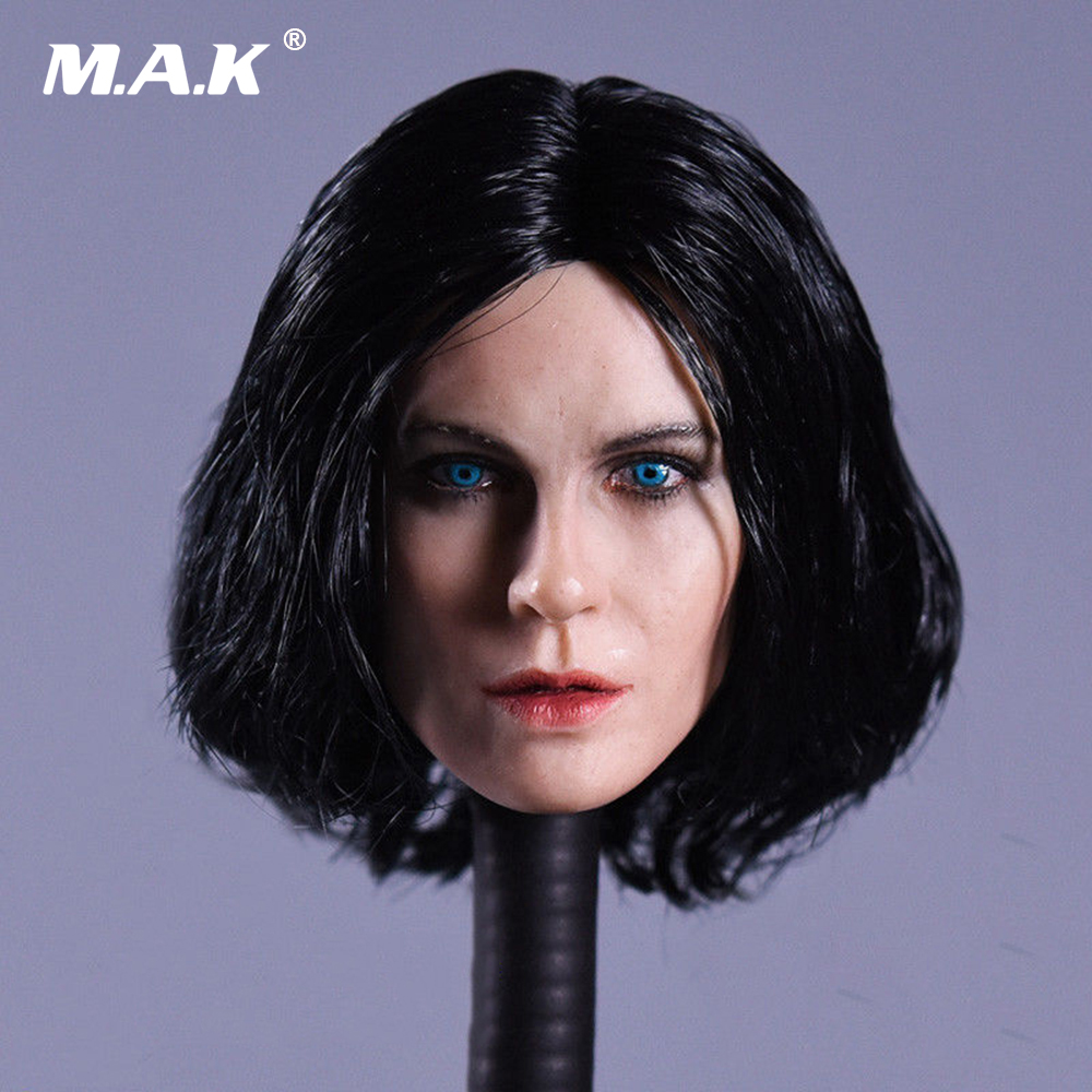 1//6 Kate Beckinsale Underworld Selene Head Sculpt BROWN eyes for PALE 12/'/' body