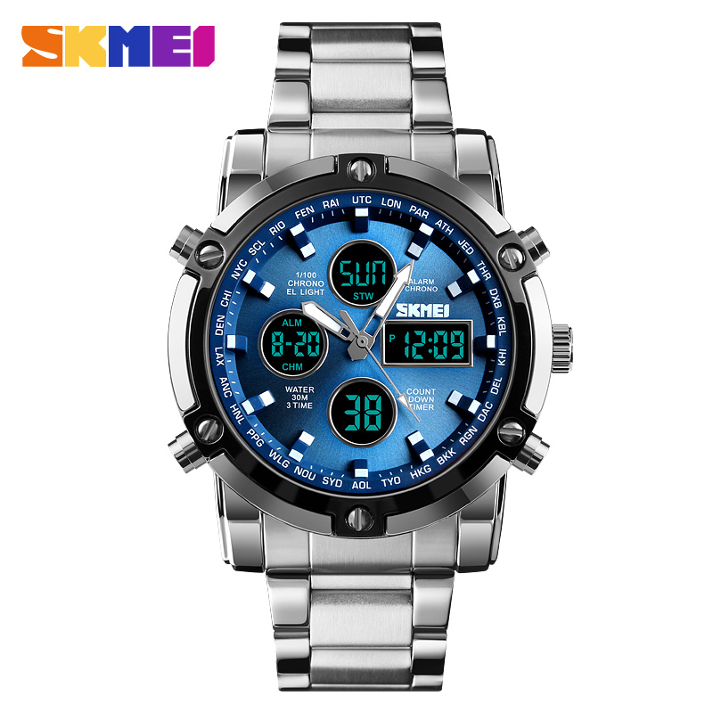 <font><b>SKMEI</b></font> Sport Men Watches Fashion Casual Men's Watch Digital 30M Waterproof Watch Dual Display Quartz Wristwatch relogio masculino image
