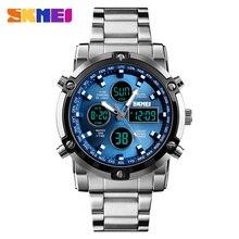 SKMEI sportowe zegarki męskie moda Casual męski zegarek cyfrowy 30M wodoodporny zegarek podwójny wyświetlacz kwarcowy zegarek relogio masculino
