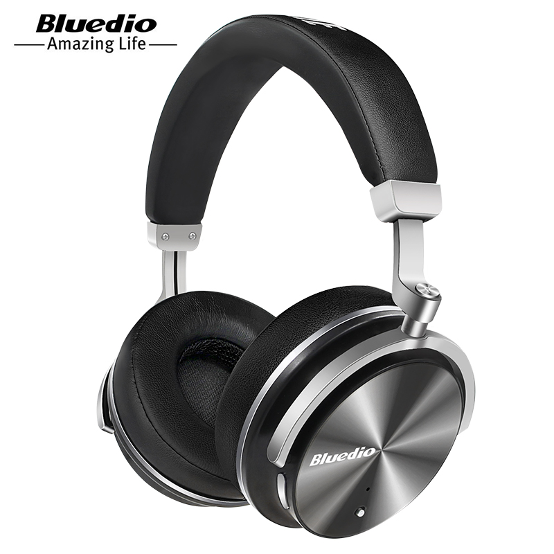Bluedio T4 active noise cancelling wireless Bluetooth headphones original folable ANC headset with microphone for Xiaomi,Samsung