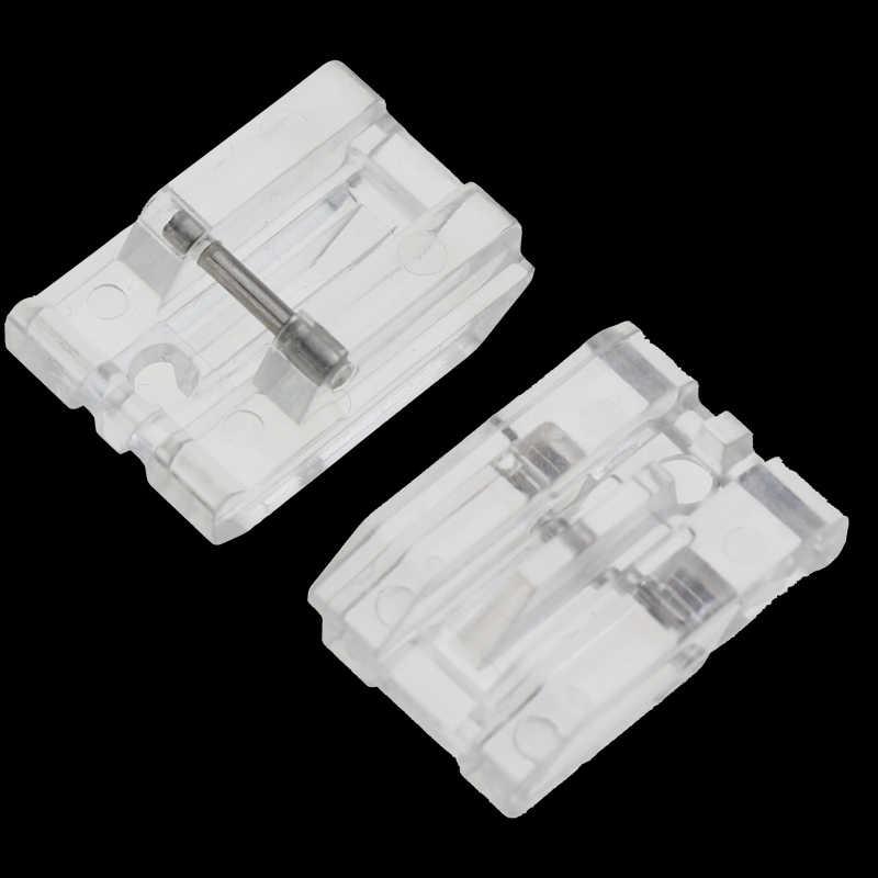1 PCS Huishoudelijke Naaimachine Onderdelen Naaivoet Onzichtbare Rits Voet Plastic voor singer brother wit janome juki toyota