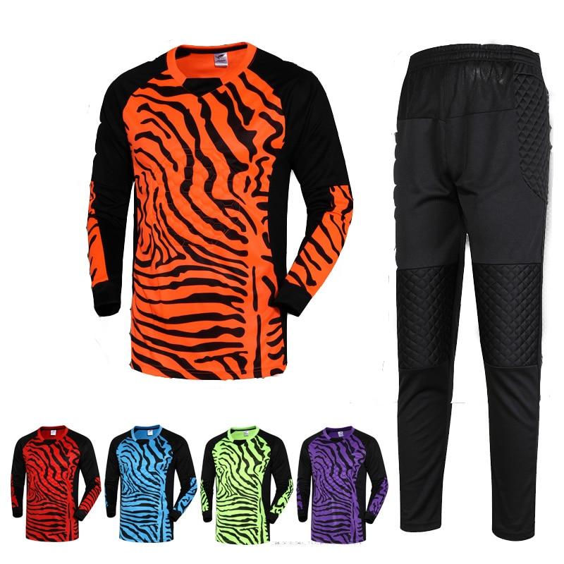 0eb0de3a0 2015 16 New Men Football Goalkeeper Kits Sponge Protector Suit Men Soccer  Goal Keeper Jersey Uniforms Long-Sleeve Training Set
