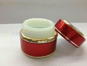 где купить 20g red glass cream jar packing bottle with gold decorative hem,Cream box / bottle дешево