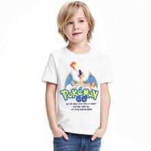 1-12Y Boys Girls Pokemon Go T shrit Kids 100% Cotton T-shirts Short sleeve Children Boys Tops Sports Tee Shirts Summer Clothing