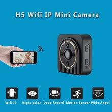 H5 Mini Câmera IP Wifi 720 P HD Mini Câmera Sem Fio P2P corpo Da Câmera Night Vision Mini DV Camera Sensor de Movimento De Vídeo Micro Cam