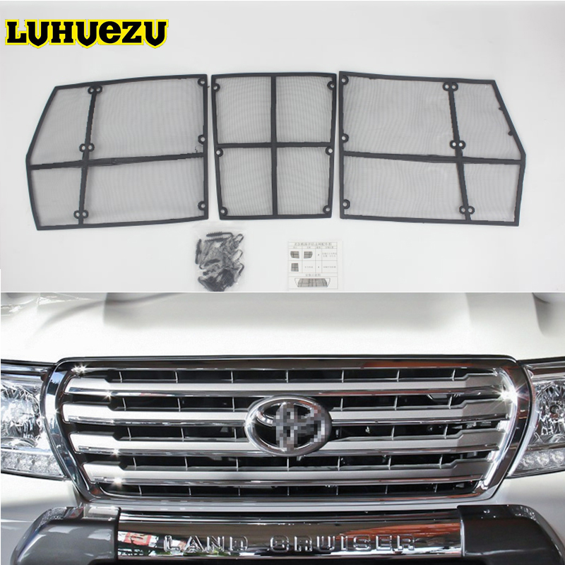 Car Insect Screening Mesh Front Grille Insert Neting For Toyota Land Cruiser 200 FJ200 2008 2009 2010 2011 2012 2013 2014 2015