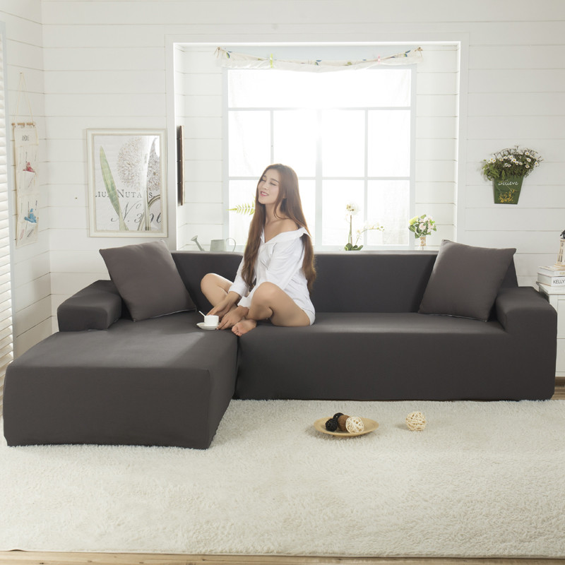 Simple Gray Color Couch Sofa Covers Sofa Furniture