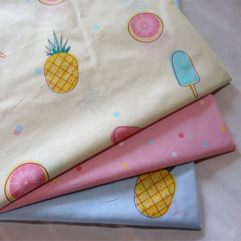 Half Meter Fruit Pineapple Print Cotton Fabric Sewing Babys Bedding Bed Lining Pillow Case Diy Craft Quilt Tissue Tecido B252 Smart Electronics