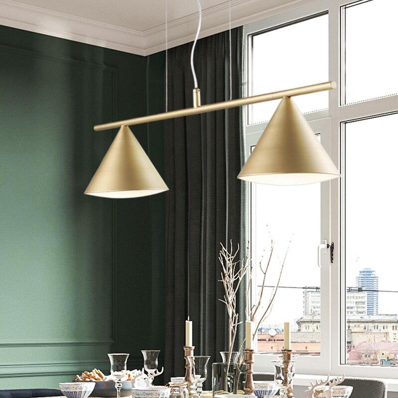 Lampe nordique Suspension lumières moderne LED lampe à bois créative fer Luminaire Suspension luminaires chambre cuisine Hanglampen