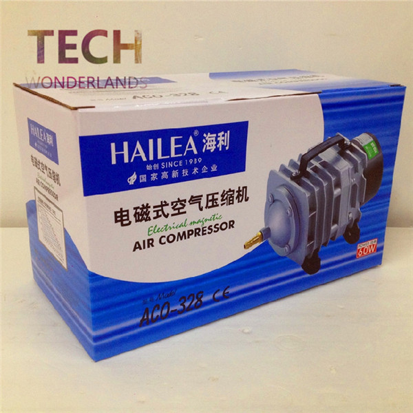 NEW 82L/min 60W HAILEA Aco-328 Electromagnetic Air Compressor Aquarium Air Pump Fish Tank Oxygen Air Pump