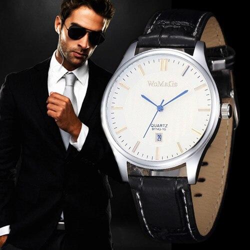 80fd459cf 2018 أعلى جودة فاخرة ماركة السيارات التاريخ ساعة الكوارتز wristwatch جديد  أزياء الرجال الأعمال الساعات الجلدية relogio masculino reloj