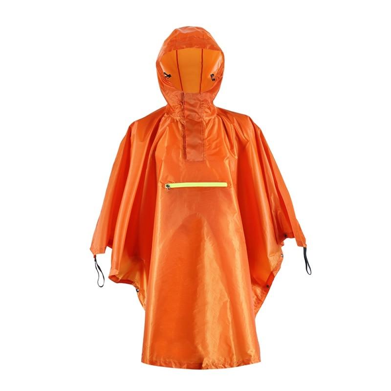 Outdoor Tools For Rain Waterproof Wear With Reflective Stripe Women  Men Cloak Fishing Poncho Camping Tour Rain Gear 3 Colors