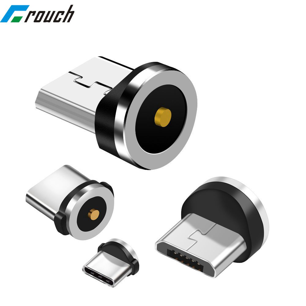 Doelstelling Magnetische Charger Type C Connector Plug Voor Ronde Kabel Micro Usb Android Type C Connector 1 Pin