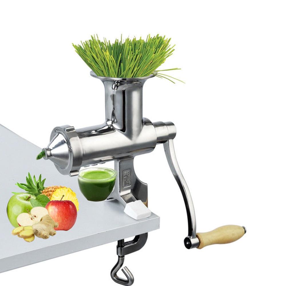 ELE A Mano In Acciaio Inox wheatgrass spremiagrumi manuale Coclea Lento spremiagrumi di Frutta Erba di Grano Verdura orange succo di premere estrattore
