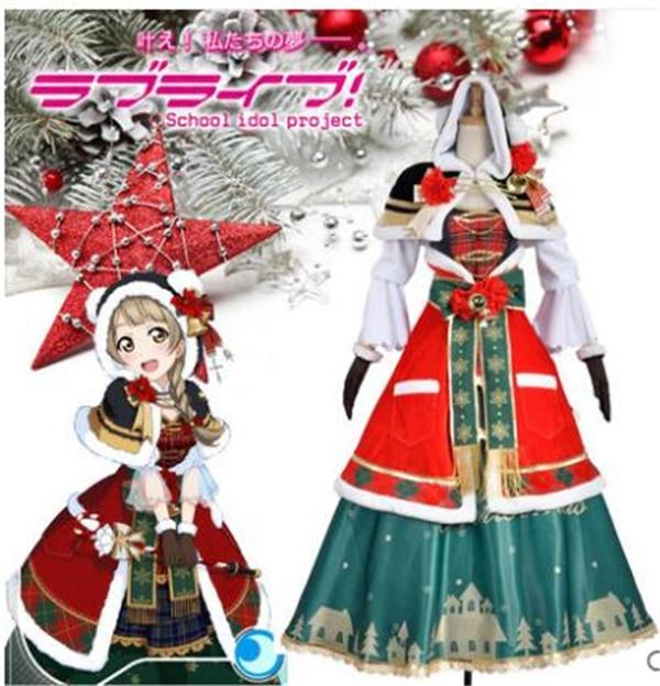 Anime Clothes 2019 Love Live Minami Kotori Christmas Awaking Dress Cosplay Costume Cape halloween costumes for women A