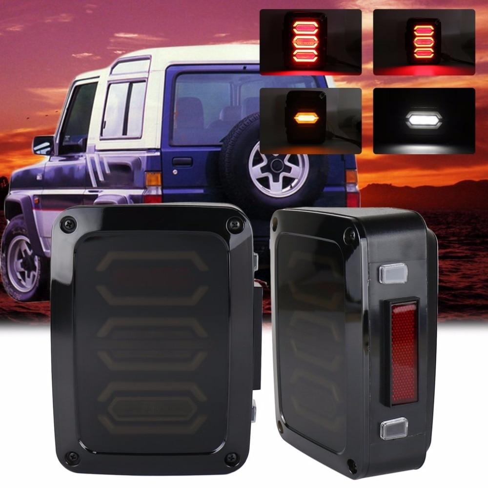 2 шт 4-го поколения задний фонарь Водонепроницаемый ромба светодиодные задние фонари для джип для Спорщик подключите & Play светодиодные задние фонари автомобиля