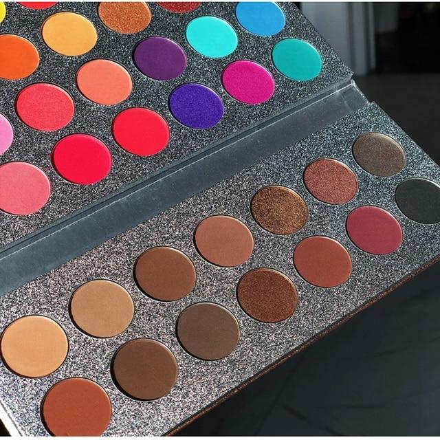 Beauty Glazed 63 Colors Fashion Eyeshadow Palette Matte Glitter Eye Shadow Makeup Nude Shinning Shadow Pigment Makeup Sombra 2