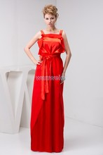 free shipping 2013 arrival formal gown kate middleton dress floor-length strap custom size/color red chiffon bridesmaid