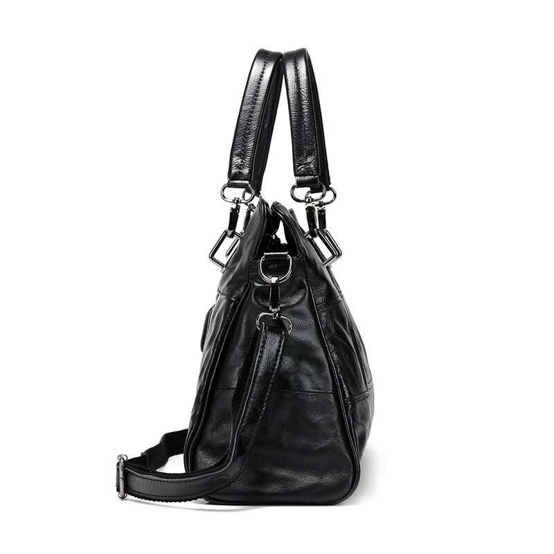 Véritable À Femmes Bandoulière Cuir Main Femininas Fourre De Black Sac Bolsas En tout Mode Noir Dames qxwtpYB