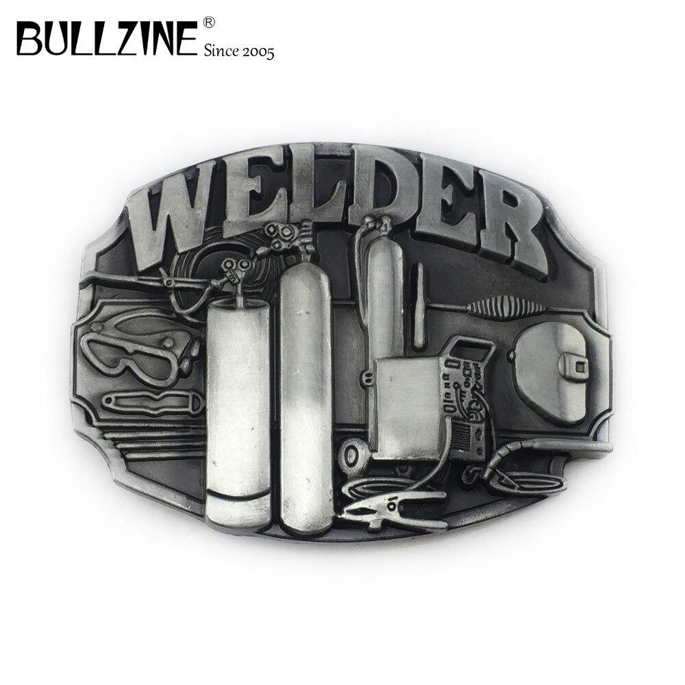 Bullzine Custom Welder Buckle Belt Cowboy Jeans
