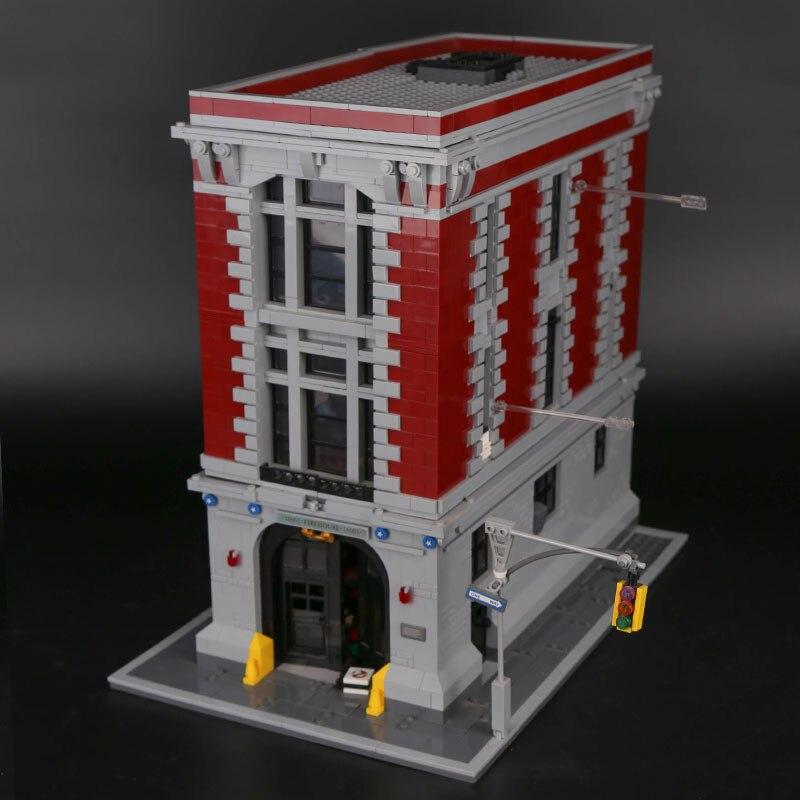 16001 le siège de la caserne Ghostbusters Set compatible nouveau 75827 blocs enfants jouets pour enfants Halloween cadeaux de noël
