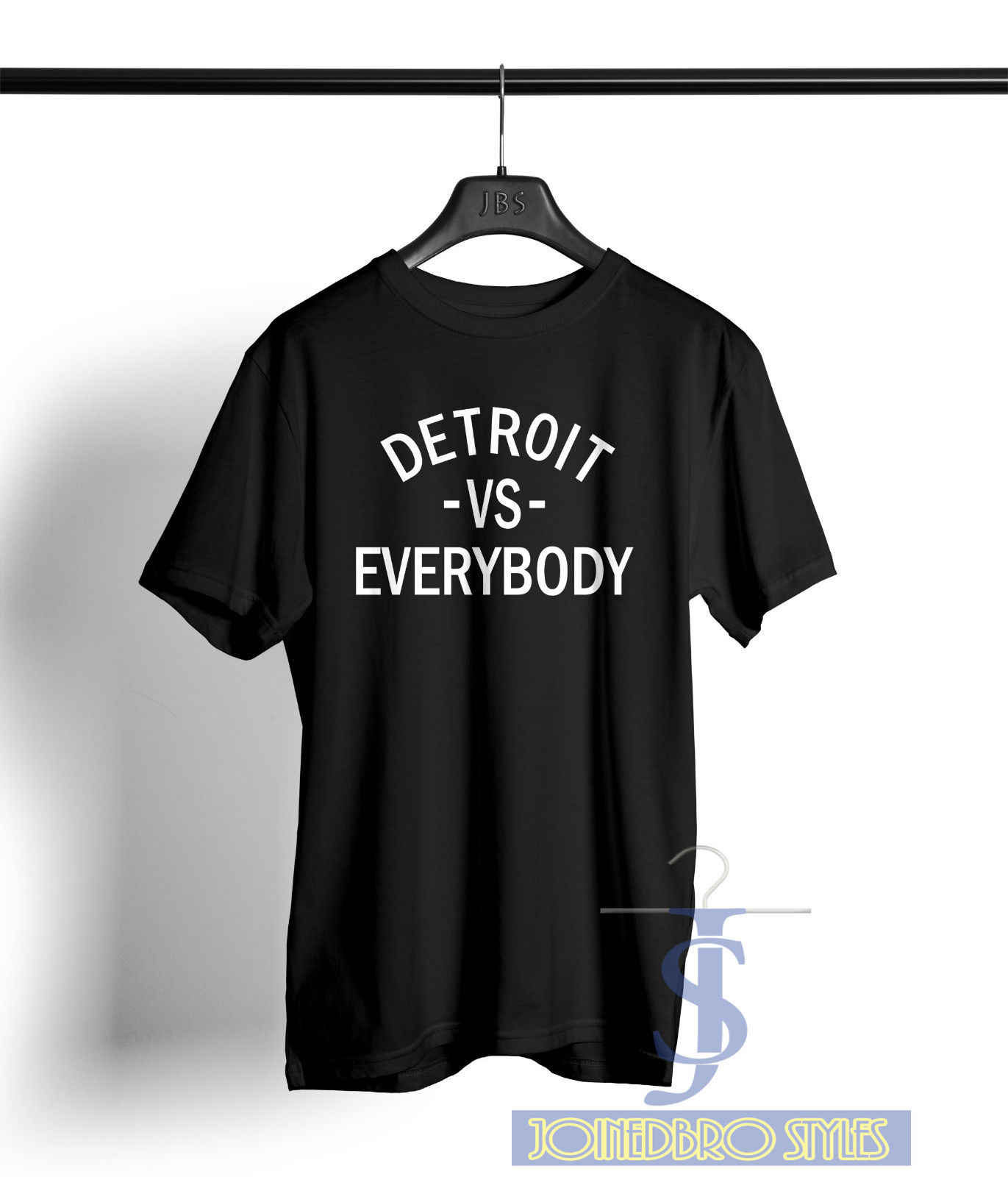 Detroit vs Iedereen T-shirt slim shady hip hop rap standaard zwart S-2XL