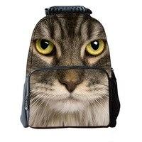 3D Animal Children School bags Cute Cat Schoolbag for Girls Casual Kids Women Shoulder School Book bag Mochila Escolar