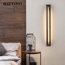Botimi деревянный светодиодный настенный светильник для спальни