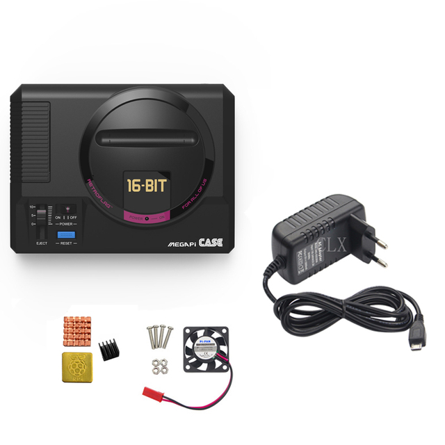 Retroflag MEGAPi Boitier + Raspberry pi 3B +(Plus)+ 16/carte 32GB + 5V 3Apower + HDMI + dissipateur De Chaleur pour Raspberry pi 3B +