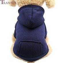 Прямая, повседневные зимние толстовки с капюшоном для собак, толстовки с карманом для маленьких собак, теплое пальто, Одежда для питомцев 80913