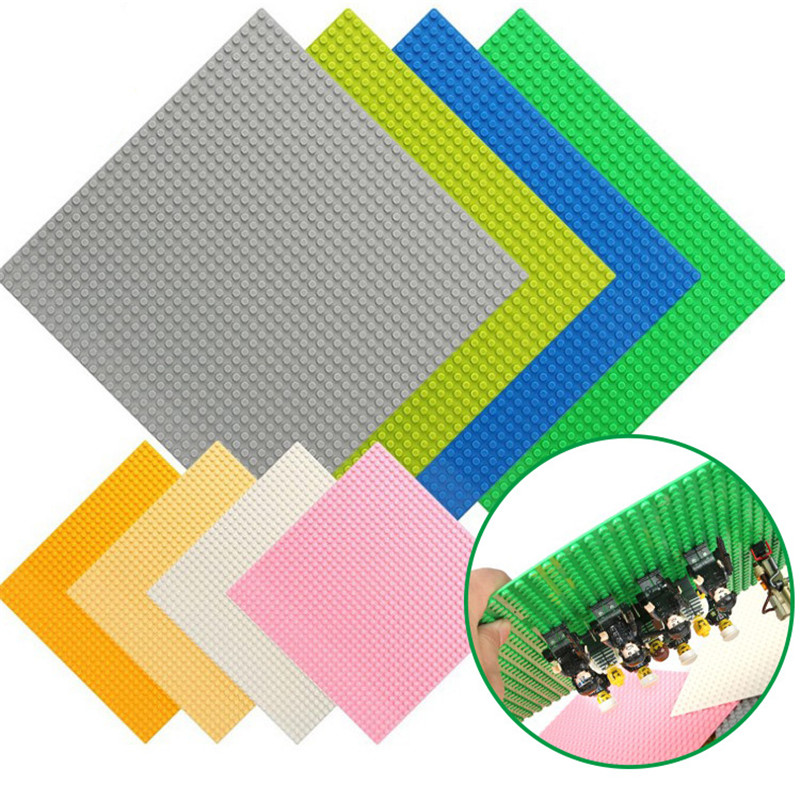 32*32 Dots LegoING Base Plate for Small Bricks Baseplate Board Figures DIY Building Blocks Sets Educational Toys For Children 2017 brand new fashion big size 40 40cm blocks diy baseplate with 50 50 dots small bricks base plate green grey blue