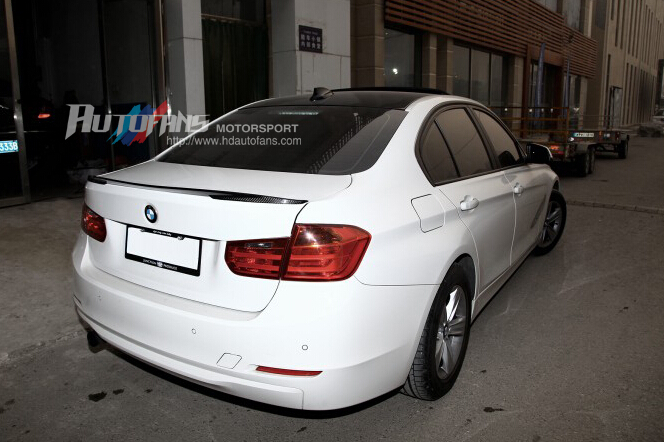 P Style Carbon Fiber Car Trunk Lip Spoiler Boot Wing For - 320i bmw 2012
