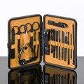 18 шт. набор кусачек для ногтей с чехол для хранения из нержавеющей стали маникюрный педикюр набор инструментов для ухода LB88