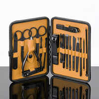 18Pcs Nail Clippers Set with Storage Case Stainless Steel Manicure Pedicure Grooming Tools Kit LB88