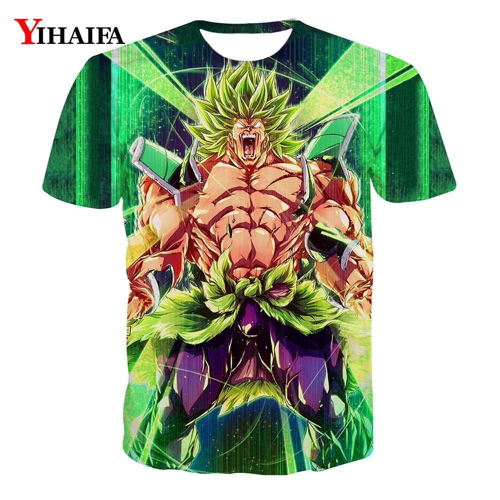 Men 3D Print T shirt Space Galaxy Dragon Ball Z Anime Casual Tee Shirts Graphic Tee Unisex Fashion Cartoon Tops(China)