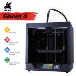 2019 новейший дизайн Flyingbear-Ghost4 3d принтер полная металлическая рамка Высокоточный 3d принтер Diy комплект стеклянная платформа Wifi