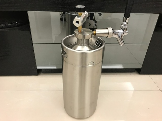 3.6L mini growler spears Beer Spear with Tap Faucet with CO2 ...