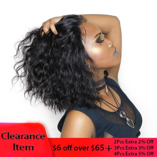 Wavy Bob Wig For Woman 13X4 Short Lace Front Human Hair Wigs Natural Wave Brazilian Wig Bob You May Remy Hair