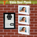 7 Inch Monitor Video Door Phone Intercom Doorbell Camera Video Intercom Home Door video intercom system 1-Camera + 3-Monitor