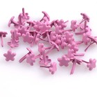 10mm Metal Pink Flower Studs Nailheads Rivet Spike Punk Bag Leather Craft Clothes Garment Rivet Apparel Sewing 100pcs CP0645