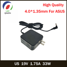 QINERN US 19V 1.75A 33W 4.0*1.35mm AC Laptop Charger Power For ASUS VivoBook F201E-KX052H X202E-CT3217 Laptop Adapter Pour ASUS